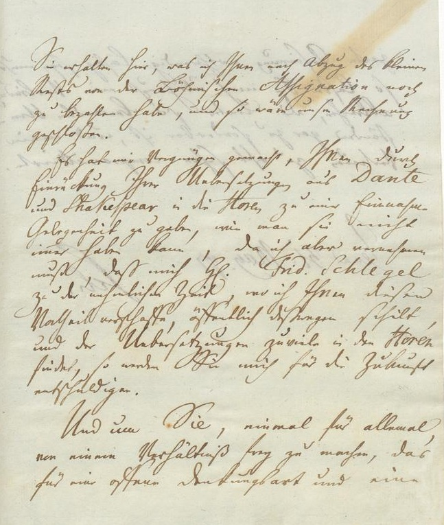 Brief Friedrich Schiller an A. W. Schlegel (31. Mai 1797)
